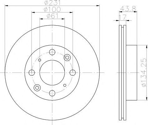 Тормозной диск  арт. 92046500