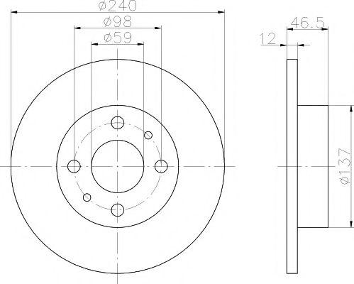 Тормозной диск  арт. 92034500