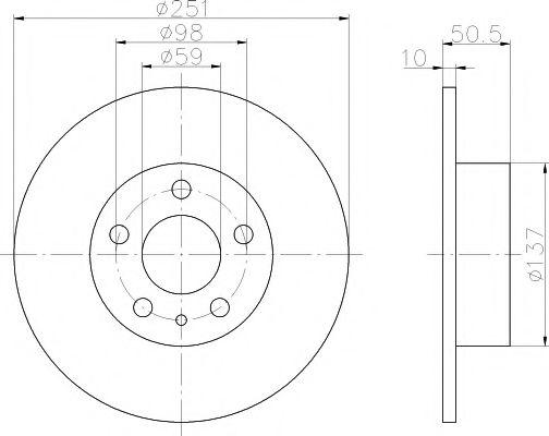 Тормозной диск  арт. 92046903