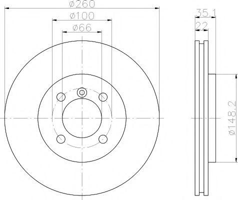 Тормозной диск TEXTAR арт. 92026503