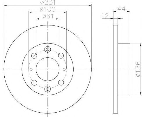 Тормозной диск  арт. 92046300