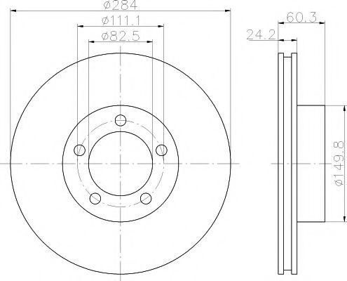 Тормозной диск  арт. 92031600
