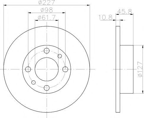 Тормозной диск  арт. 92019300