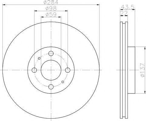 TEXTAR  FIAT  Диск тормозной FIAT Doblo,Bravo, Marea 96-01 TEXTAR 92053503