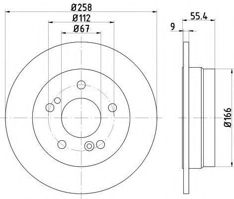 TEXTAR  DB Диск тормозной задний W202 93-95 TEXTAR 92059503