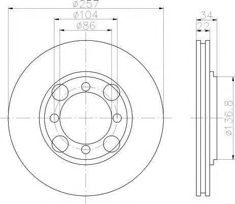 Тормозной диск  арт. 92062700