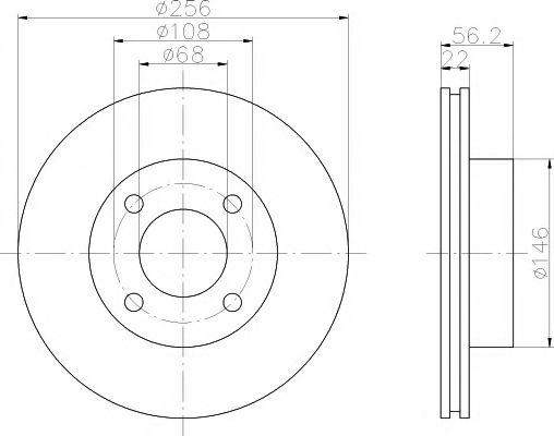 TEXTAR  Диск тормозной передний 80 1.8-2.3E 91-92 TEXTAR 92054200