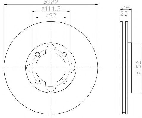Тормозной диск  арт. 92081600