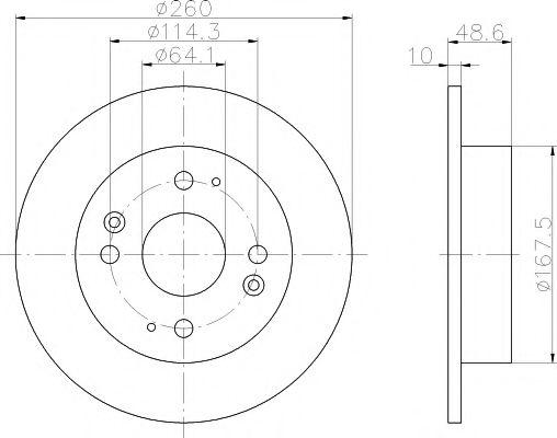 Тормозной диск  арт. 92081700