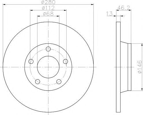 TEXTAR  Диск тормозной перед. AUDI A4 94-00  (280*13) TEXTAR 92071603