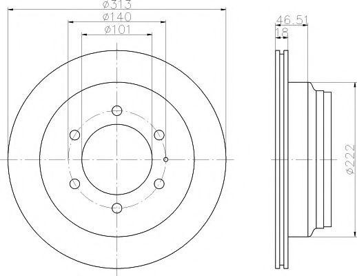 Тормозной диск  арт. 92091600