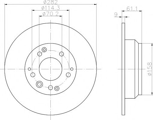 Тормозной диск  арт. 92078400