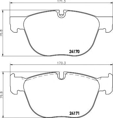 Тормозные колодки дисковые TEXTAR  арт. 2417001