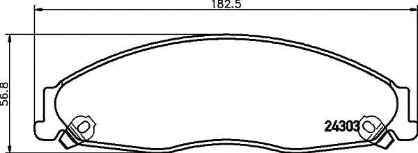 Комплект тормозных колодок, дисковый тормоз  арт. 2430301