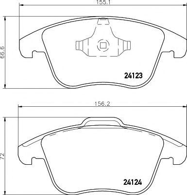TEXTAR  Тормозные колодки пер. FORD Mondeo 07- S-MAX 06- Galaxy 06- TEXTAR 2412301
