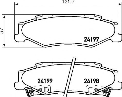 Комплект тормозных колодок, дисковый тормоз  арт. 2419701