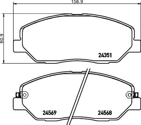 Тормозные колодки дисковые TEXTAR  арт. 2435101
