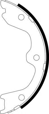 Тормозные колодки барабанные  арт. 91065900