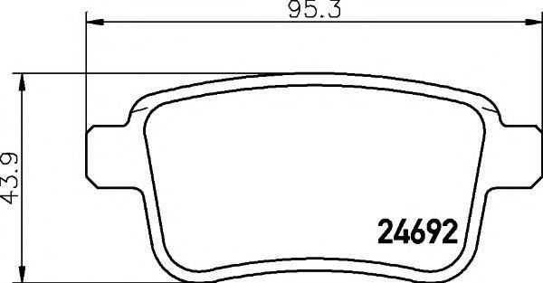 TEXTAR  Тормозные колодки зад. RENAULT Kangoo 08 - TEXTAR 2469201