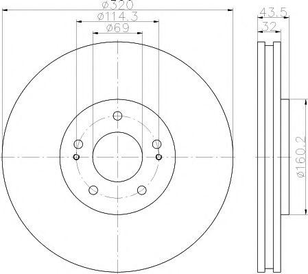 Тормозной диск TEXTAR 92169903