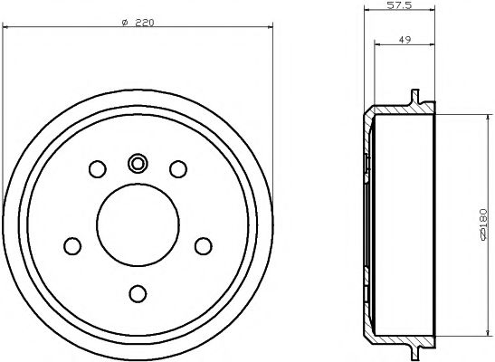 TEXTAR DB Тормозной барабан W168 A-klasa 97- TEXTAR 94020200