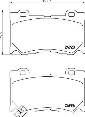 Комплект тормозных колодок, дисковый тормоз  арт. 2499401