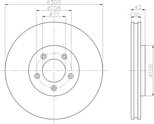 Тормозной диск  арт. 92099003