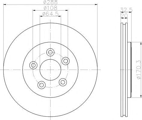 Тормозной диск  арт. 92099100