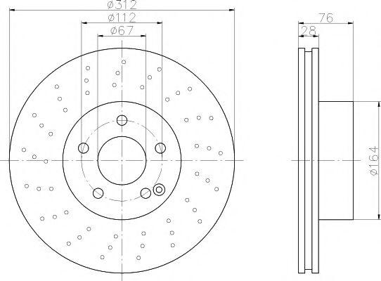 TEXTAR  Диск тормозной перед. (вентил.) DB W220 2,8-3,7 (312*28) TEXTAR 92099303