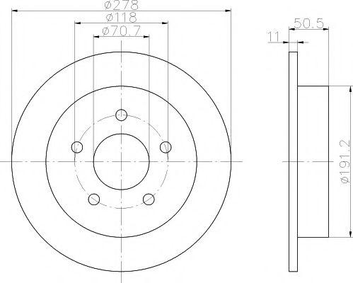 Тормозной диск  арт. 92099800
