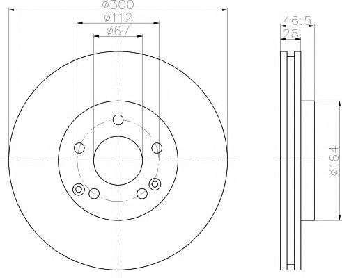 TEXTAR  Диск тормозной перед. (вентил.) DB W203/210  (300*27,9) TEXTAR 92106005