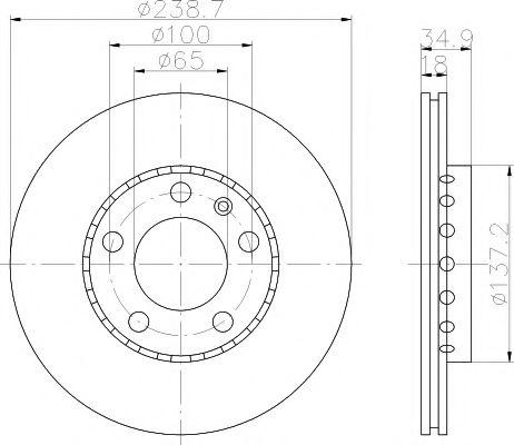 TEXTAR  Диск тормозной перед. (вентил.) VW Polo 01-; SKODA Fabia (239*18) TEXTAR 92106803