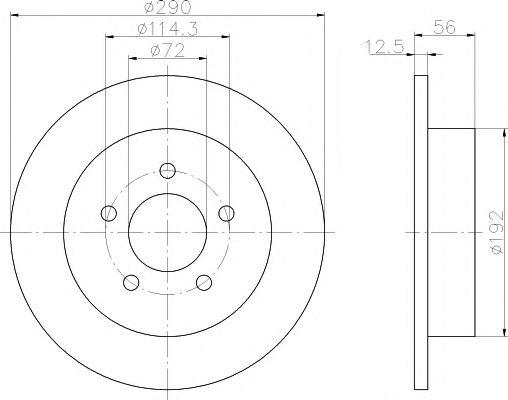 Тормозной диск  арт. 92108400