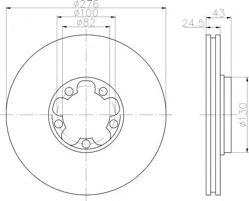Тормозной диск  арт. 92110003