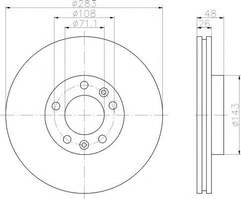 TEXTAR  PEUGEOT Тормозной диск передн.407 04- TEXTAR 92111803