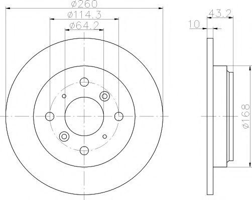 Тормозной диск  арт. 92114300