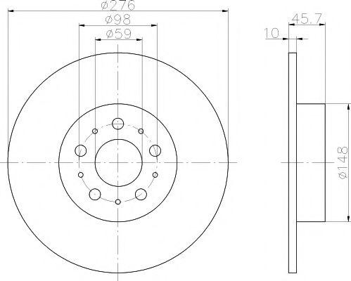Тормозной диск  арт. 92114700