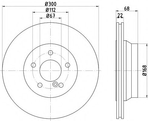 TEXTAR  Тормозной диск задн. (вентил.) (300*22) DB W211 02- TEXTAR 92115505