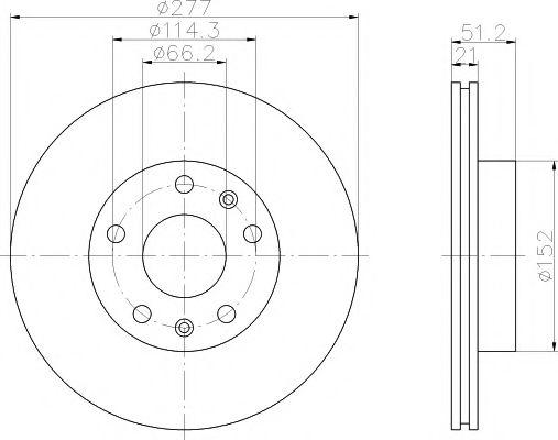 Тормозной диск TEXTAR 92115703