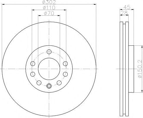 Тормозной диск  арт. 92118303