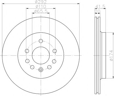 Тормозной диск  арт. 92118403