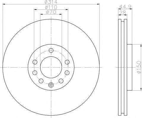 Тормозной диск  арт. 92118803
