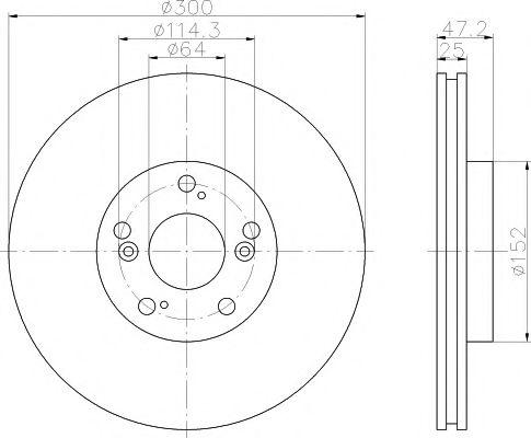Тормозной диск  арт. 92125000