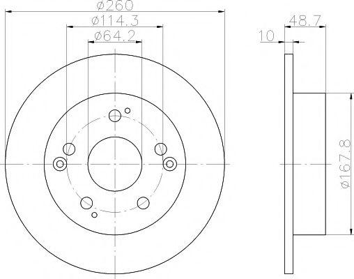 Тормозной диск  арт. 92125100
