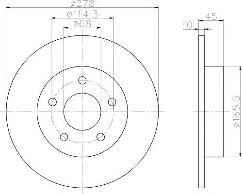 TEXTAR  Тормозной диск зад. Nissan Almera 00-05, Primera (P12) 01- TEXTAR 92125703