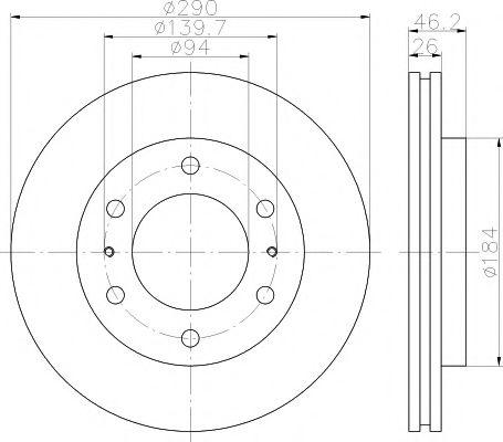 TEXTAR  Тормозной диск передн.вентилир.MITSUBISHI Pajero 00- TEXTAR 92128803