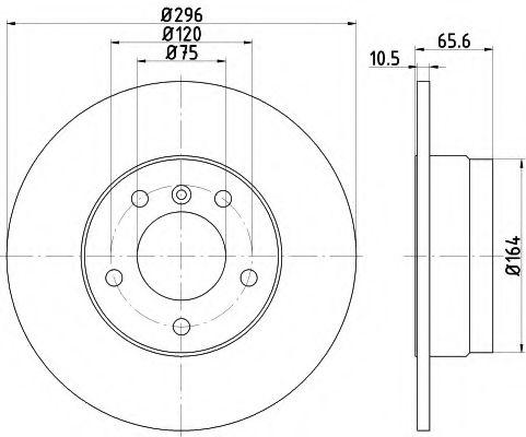 Тормозной диск TEXTAR PRO  арт. 92133103