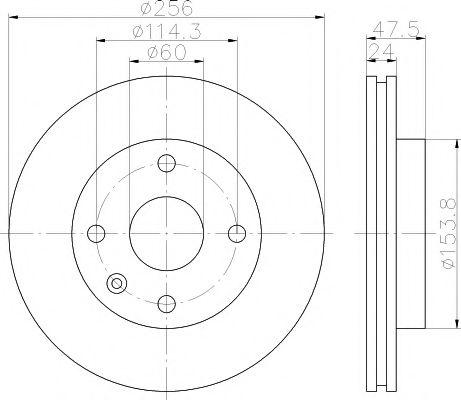 Тормозной диск TEXTAR  арт. 92133500