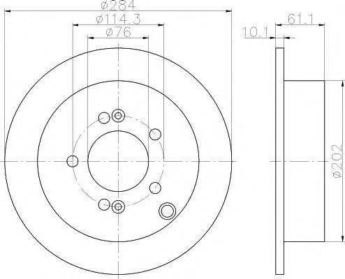 Тормозной диск TEXTAR  арт. 92134000