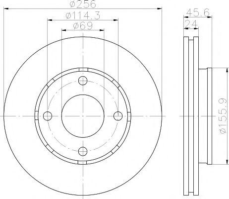 TEXTAR MITSUBISHI Тормозной диск передн.Colt 04- (256*24) TEXTAR 92134803
